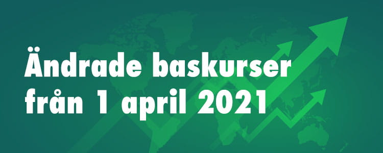 Bruttopriser baskurser april 2021